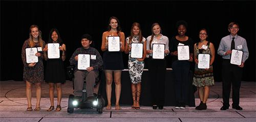 Photo of scholarship winning students